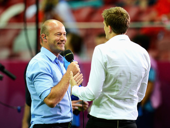Alan Shearer (left)