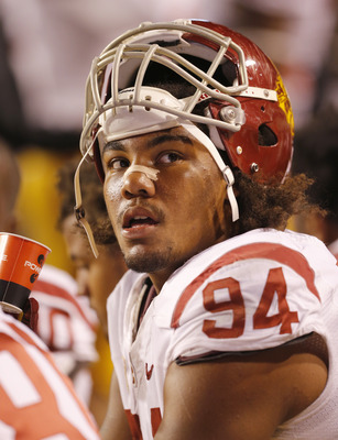 USC's Leonard Williams rests during the Trojans game against Utah last week.