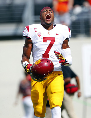Safety T.J. McDonald in USC's game against Syracuse