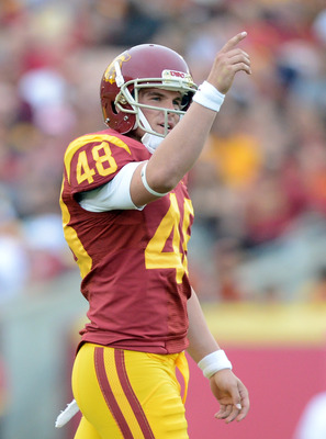 USC's kicker Andre Heidari in the Trojans' game against UC Berkeley