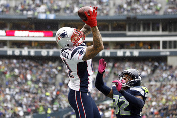 Aaron Hernandez's touchdown catch