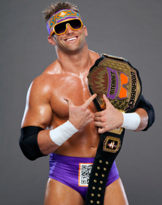 Zack Ryder with his Internet Championship belt.   Photo credit: Wrestleenigma.com