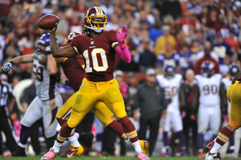 RGIII sealed the game with a 76-yard touchdown in the 4th quarter.