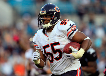 Linebacker Lance Briggs has two interceptions returned for touchdowns.