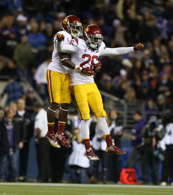 Nickell Robey celebrating with Josh Shaw