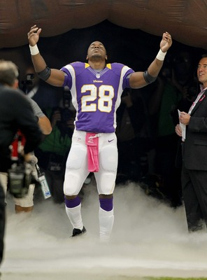 Through six games Adrian Peterson has shown no ill-effects of his torn ACL and has rushed for 479 yards with two touchdowns.