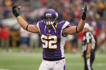 Chad Greenway is following up his first Pro Bowl appearance with an even better campaign this season.