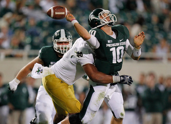 It's been a bumpy ride for first-year Spartans starter Andrew Maxwell.