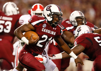 South Carolina running back Marcus Lattimore (21)