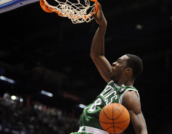 MILAN, ITALY - OCTOBER 07:  Jeff Green # 8 of Celtics in action during the NBA Europe Live game between EA7 Emporio Armani Milano v Boston Celtics at Mediolanum Forum  on October 7, 2012 in Milan, Italy.  (Photo by Roberto Serra/Iguana Press/Getty Images)