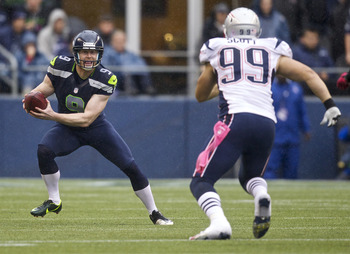 Trevor Scott tracking down Jon Ryan on botched Seahawks punt