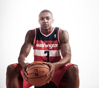 Bradley Beal at NBA Rookie photoshoot