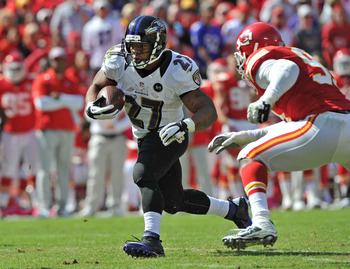 Ray Rice continues to be among the league's leading rushers.