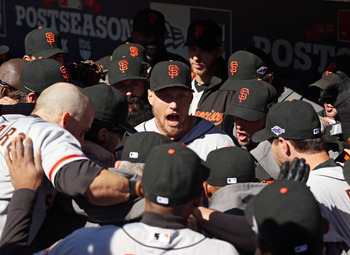 Hunter Pence is relatively new to the San Francisco Giants dugout, but that's not stopping him from being heard.