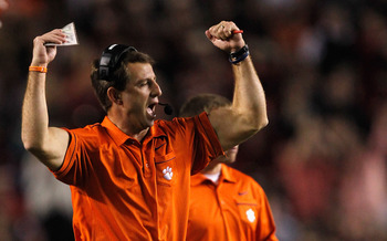 Dabo Swinney's Tigers are not guaranteed the ACC Championship Game even if they win out.
