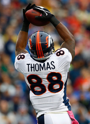 Dropped passes have been an issue for Demaryius Thomas.