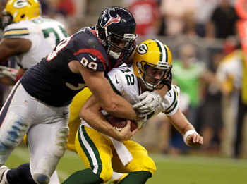 J.J. Watt gets a sack on Aaron Rodgers