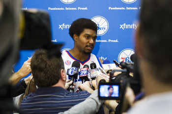 Who knows, maybe this will be the only year that he stands in front of the media in a Sixers jersey