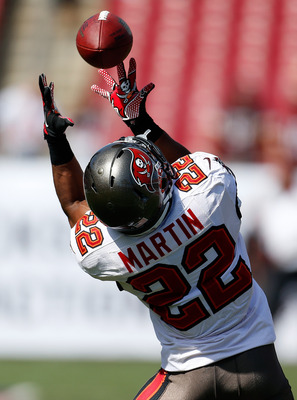 Expect Doug Martin to get 20-plus combined touches on the ground and through the air this week.