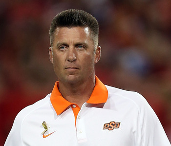 Cowboy head coach Mike Gundy