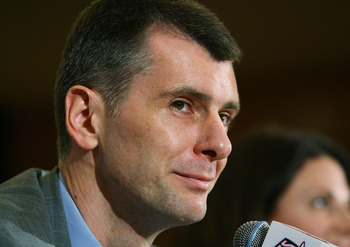 Mikhail Prokhorov believes his NY team is better than the Knicks. He may be right.
