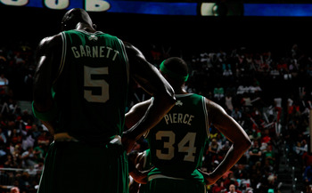 Kevin Garnett (left) and Paul Pierce (right) are set to surprise many doubters