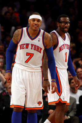 Carmelo Anthony (left) and Amar'e Stoudemire