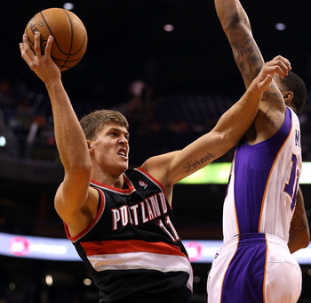 Rookie Meyers Leonard has impressed, but as of now he's not going to start.