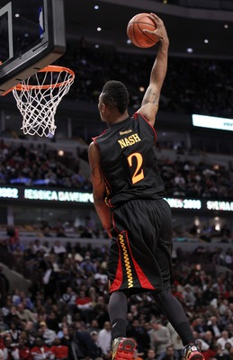 Mar 30, 2011; Chicago, IL, USA; McDonalds West forward LeBryan Nash (2) dunks the ball during the first half of the McDonalds All American games at the United Center. Mandatory Credit: Mike DiNovo-US PRESSWIRE