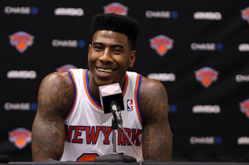 Iman Shumpert went down with a torn ACL during last year's playoffs, and looks to return by mid-season.