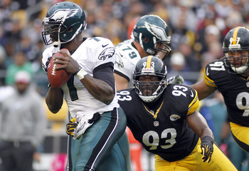 Not many NFL QBs have taken as many sacks as Michael Vick so far in 2012.