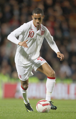 NORWICH, ENGLAND - OCTOBER 12: Tom Ince of England during the Under 21 European Championship Play Off between England U21 and Serbia U21 at Carrow Road on October 12, 2012 in Norwich, England.  (Photo by Phil Cole/Getty Images)