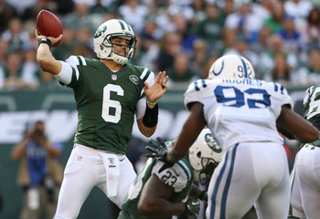 There's a dearth of talent around him, but Mark Sanchez has still shown no signs of improvement from his rookie season.