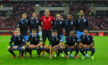England Team Against Poland
