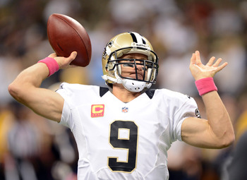 If Brees can lead his team back from a horrible start, he may be considered the best.