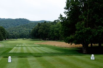 Greenbrier's opening hole gives you an insight on what the rest of the course will be like.
