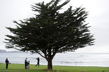 Just one of the signature sights at Pebble Beach Golf Links.
