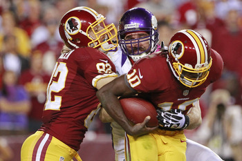 Jared Allen sacked Griffin once but failed to contain him late in the game.