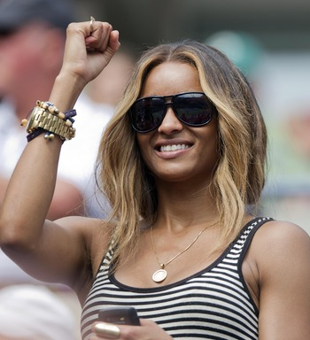 Sep 8, 2011; New York, NY, USA; Recording artist Ciara in attendance on day eleven of the 2011 US Open between Serena Williams (USA) and Anastasia Pavlyuchenkova (RUS) at Billie Jean King Tennis Center. Mandatory Credit: Susan Mullane-US PRESSWIRE