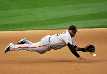 Pablo Sandoval makes a fine defensive play in game three