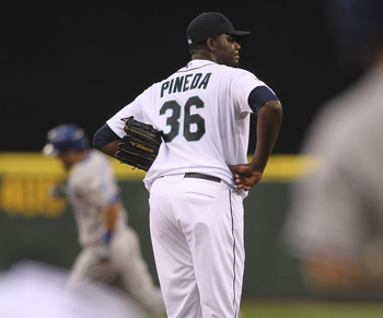 the last time Michael Pineda pitched and it counted he was wearing a Seattle uniform.