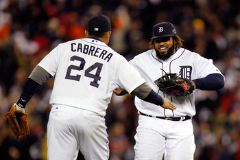 Tigers first baseman Prince Fielder had a career-high .313 batting average in his first season with the Tigers.