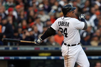 Tigers third baseman Miguel Cabrera hit a two-run homer in Game 4 to help send Detroit to the World Series.