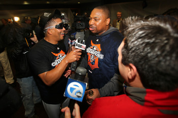 Tigers designated hitter Delmon Young earned ALCS MVP honors with two home runs and five RBI.