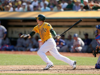 The Oakland Athletics bat against the Texas Rangers in the season's final game with the division on the line.