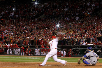 Albert Pujols bats in his final game as a St. Louis Cardinal