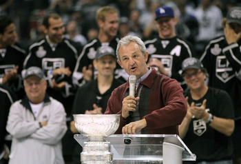 Sutter at the Los Angeles Kings' Stanley Cup parade.