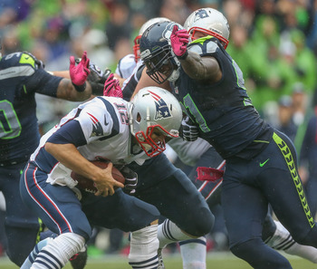 Tom Brady was sacked twice in the loss to Seattle
