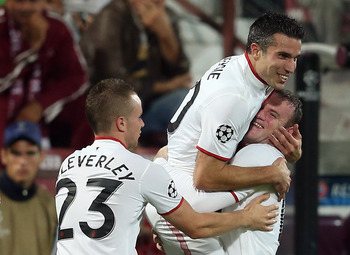 Cleverley, Van Persie, Rooney