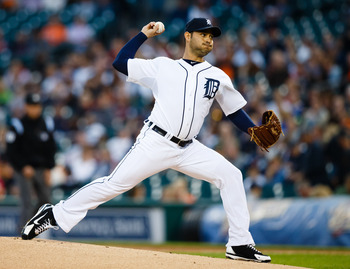 September 25, 2012; Detroit, MI, USA; Detroit Tigers starting pitcher Anibal Sanchez (19) pitches during the first inning against the Kansas City Royals at Comerica Park. Mandatory Credit: Rick Osentoski-US PRESSWIRE